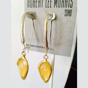 ISO Robert Lee Morris SOHO Yellow Drop Earrings